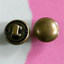 15 Brass Metal Plate Half Ball Military Clothes Dome Self Shank Sew On Buttons