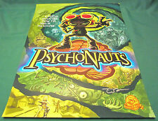 """Psychonauts Cover Art Poster Signed by Tim Schafer (18 x 24"""") Video Game Print"""