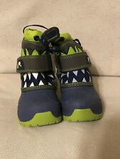 Toddler Boys Blue/Green Bernardo Shark Winter Boots From Cat & Jack [Size 4]
