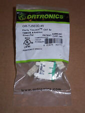 New ORTRONICS OR-TJ5E00-43 CLARITY TracJack CAT5e T568A/B 8 POSITION GREEN FLAT