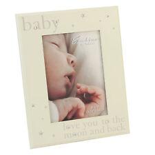 "Beautiful Bambino cream wooden 5 x 7"" frame love you to the moon & back CG337"