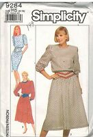 9284 Vintage Simplicity Sewing Pattern Misses Back Button Dress in 2 Lengths OOP