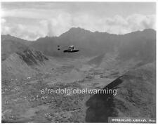 Photo 1930 Sikorsky S-38 over Manoa Valley, Oahu Hawaii