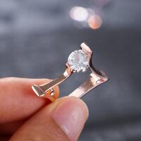 Quadratische Ringe Geometrischer Ring Kubischer Zircon Rose Gold /Gold /Silber