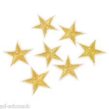 10 Stern Bügelbild Aufnäher Applikation Aufbügler Patchwork Gold 2.7x3cm