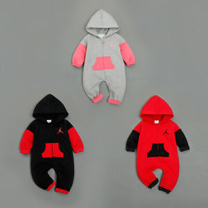 Hot Newborn Baby Boy Girl Winter Wool Thicken Warm Romper Hooded Clothes Outfit