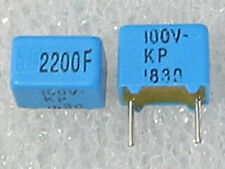 5 condensateurs 2200pF 2,2nF 100V 1% ERO KP1830