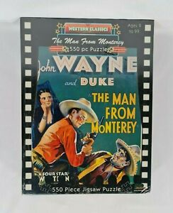New - John Wayne The Man From Monterey Jigsaw Puzzle Movie Poster 550 Pieces