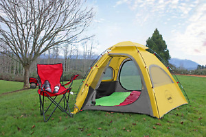 Outdoor Camping Tent 4 Person Waterproof Easy Setup Sun Shade Polyester Shelter