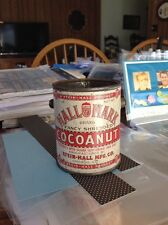 cocoanut  metal tin 1915 vintage STEIN HALL MFG CO CHICAGO IL  ILLINOIS  C