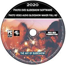 Foto Video Audio Dvd presentación animada Maker software (PC) + editor de imágenes y video