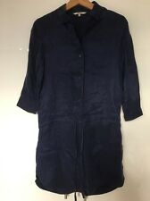 BB Dakota BLU Shirtdress Abito Camicia Setosa cupro Rayon S small NUOVA nuovo senza etichette
