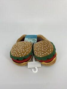 Stride Rite- Hamburger Theme Plush Slippers - Size 9-10