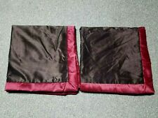"RED BROWN SET OF 2  POLYESTER SQUARE PILLOW SHAM COVER SIZE 29""X 29"""