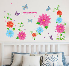 5700098 | Wall Stickers Flowers Backdrop with Vines Home Decal Vinyl