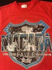 Vintage 80s Niagara Falls Canada T-Shirt Waterfall Vacation Usa State Park