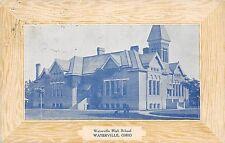 B77/ Waterville Ohio Postcard 1911 Waterville High School Building
