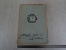 CATALOGO PARTI DI RICAMBIO ORIGINALE 1930 CHASSIS FIAT 521 E 521C CON MAGNETE