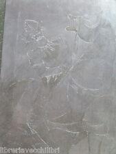 Quadro quadretto realizzato con incisione su metallo inciso a mano fantasy 2 da