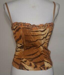 Lise Charmel Tiger Print Corset Top, Size 34B