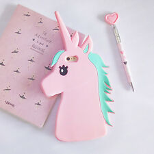 3D Cute Unicorn Cartoon Rubber Silicone Soft Case Cover for iPhone 5 6S 7 8 Plus