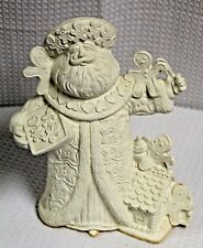 Vintage Ready-to-Paint Bisque Ceramic Santa Claus with Gingerbread Men