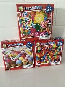 LOT OF 3  - *  PUZZLEBUG *   100 PIECE JIGSAW PUZZLES    ( NEW )