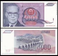 YUGOSLAVIA 5000 (5,000) Dinara, 1991, P-111, UNC World Currency