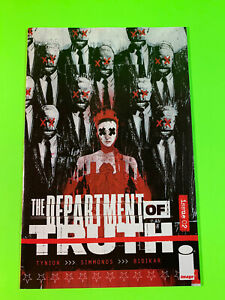 Image DEPARTMENT OF TRUTH #2 NM 1:50 Simmonds Cover E Variant 1st Print JFK