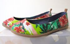Mudd women's slip on floral flats shoes sz 6.5 multicolor style MDCOSMICPRINT