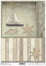 Decoupage-Bastelpapier-Softpapier-Vintage-Shabby-maritim-Seepferd-12504
