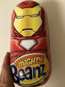Mighty Beanz Iron Man Collectors Tin Filled  With Beanz! Shipping Included. Look