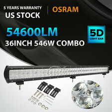 "5D 36""Inch 546W OSRAM Led Work Light Bar Spot Flood Offroad 4WD Truck ATV PK 42"""