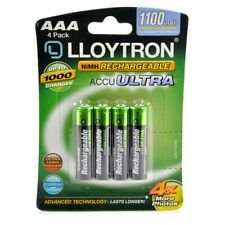 LLOYTRON B1004 4 XAAA RECHARGABLE BATTERIES FOR PHONES, CAMERAS ,TOYS NEW