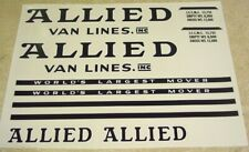 Tonka Allied Moving Semi Truck/Trailer Stickers    TK-049