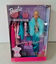1999 Fashion Wardrobe Barbie Gift Set w/ 20 different outfits 27788