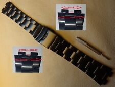 New Black Metal Smartwatch 16mm Security Deployment Push Button Clasp Watch Band