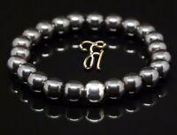 Hämatit 925er sterling Silber Armband Bracelet Perlenarmband 8mm