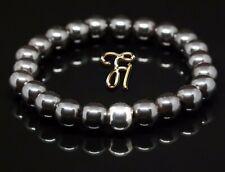 Hematite 925er Sterling Silver Bracelet Pearl Bracelet 0 5/16in