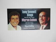 TONY BENNETT MYRON COHEN 1978 HARRAH'S RENO NEVADA POSTCARD ADVERTISEMENT