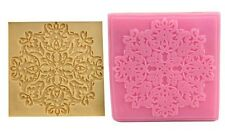 Snowflake Lace Imprint Silicone Mold for Fondant Chocolate Crafts NEW