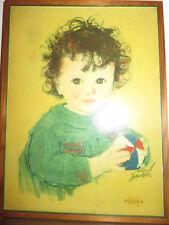 Nestle Werbung Mädchen Kind 1938 advertising girl publicité fille  Knut Janson
