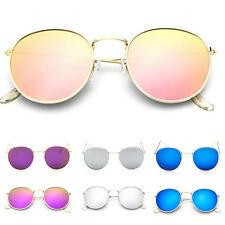 Retro Vintage Sunglasses Men Women's Fashion Round Cute Oversized Mirror Glasses