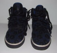 Radii Straight Jacket Shoes Hi Straps Blue Leopard (Size 6)