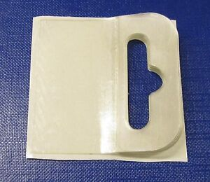 1000  Self Adhesive Flexitail Hanging Tab BOOKLETS 50x50 Hang tab Euro,Slot,Hook