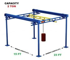 Gorbel Workstation Bridge Crane 2 Ton Capacity Glcs Fs 4000 15 23 10