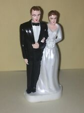 VINTAGE BRIDE & GROOM WEDDING CAKE TOPPER SET VHTF