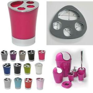 Bath Toothbrush Toothpaste Holder Chrome Parts Pink