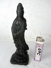 Imagen bonito madera-Guanyin Buddha, diosa del tíbet acabado sofisticado figura 17cm