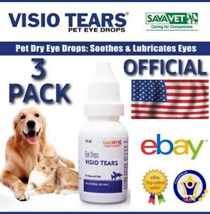 3 PACK OFFICIAL USA Eye Drops VISIO Tears Cataract Itch Red Pink Conjunctivitis